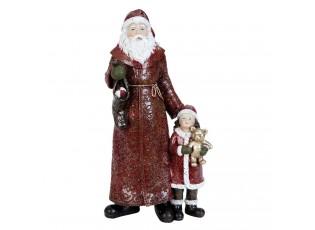 Dekorace Santa s holčičkou - 13*8*25 cm