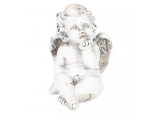 Dekorace sedící anděl -  9*7*12 cm