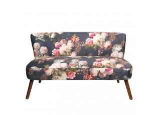 Květovaná sedačka Romantic - 132*63*76 cm