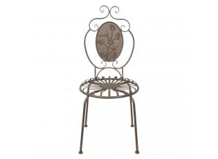 Hnědá kovová zahradní židle - 45*44*102 cm