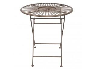 Hnědý kovový zahradní stůl Browny -  Ø 70*74 cm