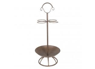 Hnědý kovový stojan na deštníky - Ø 30*78 cm