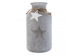 Dekorační skleněná láhev s hvězdou - Ø10*20 cm