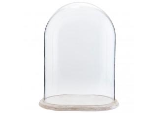 Dřevěný podnos se skleněný poklopem - 32*21*42 cm