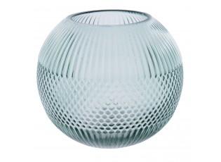 Kulatá zelená skleněná váza -  Ø 15*13 cm