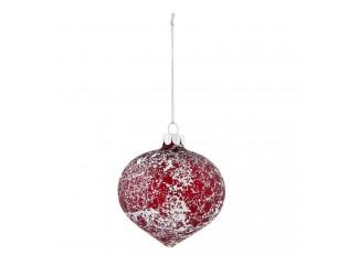 Červená vánoční koule - Ø 8*8 cm