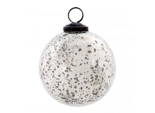 Stříbrná vánoční koule - Ø 8 cm