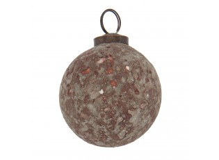 Hnědá vánoční koule - Ø 7 cm