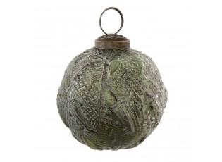 Zelená vánoční koule - Ø 7*8 cm