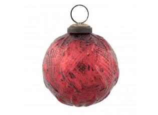 Červená vánoční koule - Ø 7*8 cm