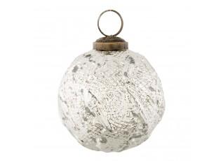 Stříbrná vánoční koule - Ø7*8 cm