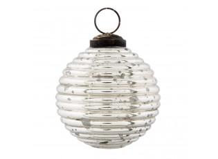 Stříbrná vánoční koule - Ø 7*7cm