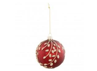 Červená vánoční koule  - Ø 8*9 cm