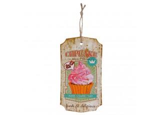 Dřevěná cedulka na zavěšení Cupcake - 27*15 cm
