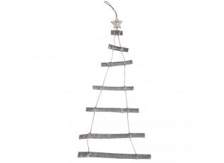 Nástěnný dřevěný vánoční stromeček - 48*2*88 cm
