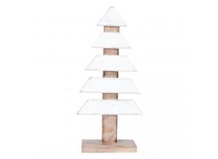 Dřevěný vánoční stromek - 17*4*32 cm