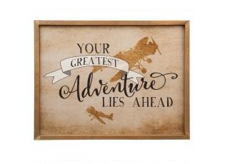 Nástěnný dřevěný obraz Adventure - 43*3*33 cm