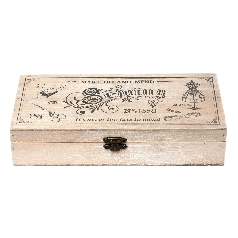 Dřevěný box na šicí potřeby - 24*12*5 cm