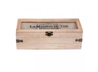 Dřevěná skříňka na čaj  (3 přihrádky) - 22*8*8 cm