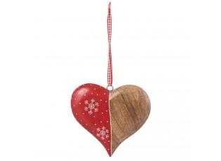 Dřevěné závěsné srdce - 16*2*16 cm
