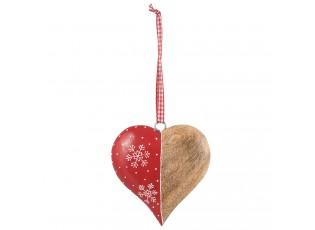 Dřevěné závěsné srdce  - 11*2*11 cm
