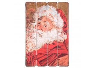 Nástěnná dřevěná cedule Santa  - 40*2*60 cm