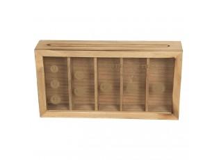 Dřevěná pokladnička s přihrádkami - 28*5*15 cm