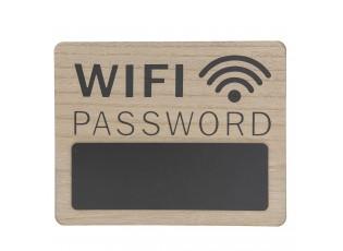 Nástěnná dřevěná cedule na heslo Wifi - 30*1*24 cm