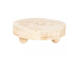 Dřevěná podložka pod nádobí na nožičkách - Ø 23*6 cm