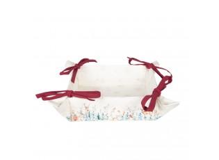 Textilní košíček na pečivo Dearly Christmas - 35*35*8 cm