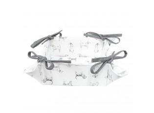 Textilní košíček na pečivo Dog Friends - 35*35*8 cm