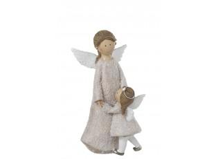 Anděl s holčičkou  - 13*26 cm