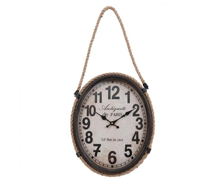 Nástěnné hodiny s lanem - 35*6*43 cm