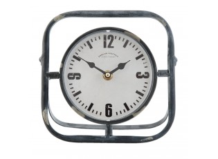 Vintage stolní hodiny v kovovém rámu - 18*9*18 cm / 1xAA