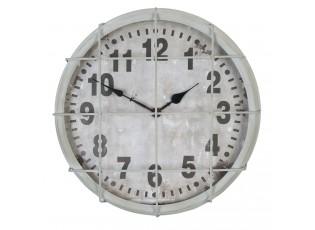 Kovové nástěnné hodiny v industriálním stylu - Ø 36*9 cm / 1xAA