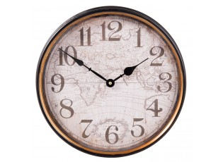 Nástěnné hodiny Terrarum Orbis - Ø 31*8 cm / 1*AA