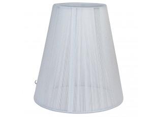 Bavlněné průsvitné stínidlo v bílé barvě - Ø 14*15 cm / E14