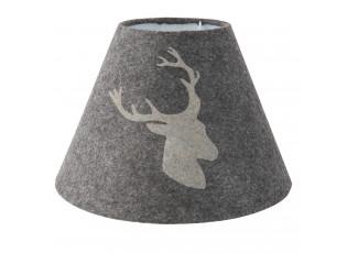 Šedé stínidlo lampy s jelenem - Ø 23*17 cm
