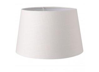 Textilní stínidlo na lampu bílé - Ø 25*16 cm / E27