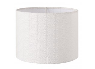 Bílé stínidlo na lampu s dekorem - Ø 20*15 cm / E27