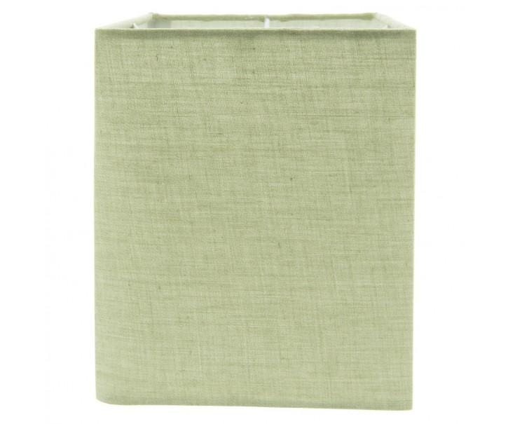 Zelené textilní stínidlo na lampičku - 14*14*18 cm