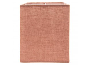 Červené textilní stínidlo - 14*14*18 cm
