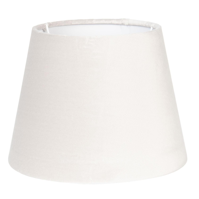 Béžové textilní stínidlo na lampu - Ø 20*15 cm