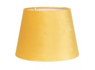 Žluté semišové stínidlo Chic - Ø 20*15 cm