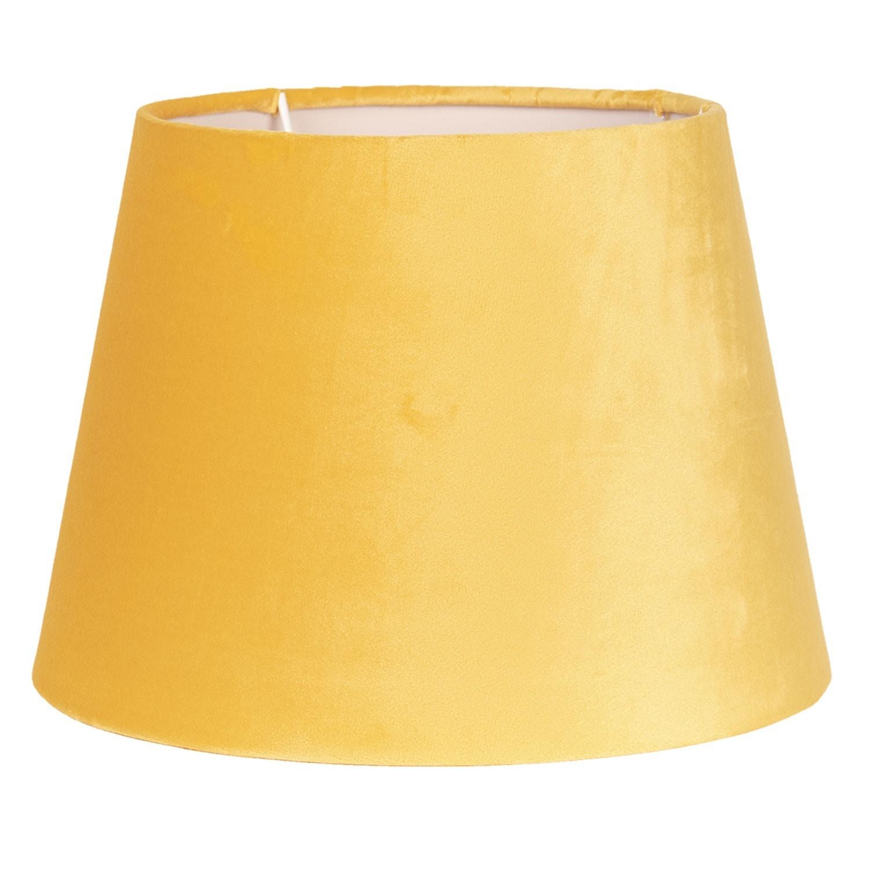 Žluté textilní stínidlo na lampu - Ø 25*18 cm