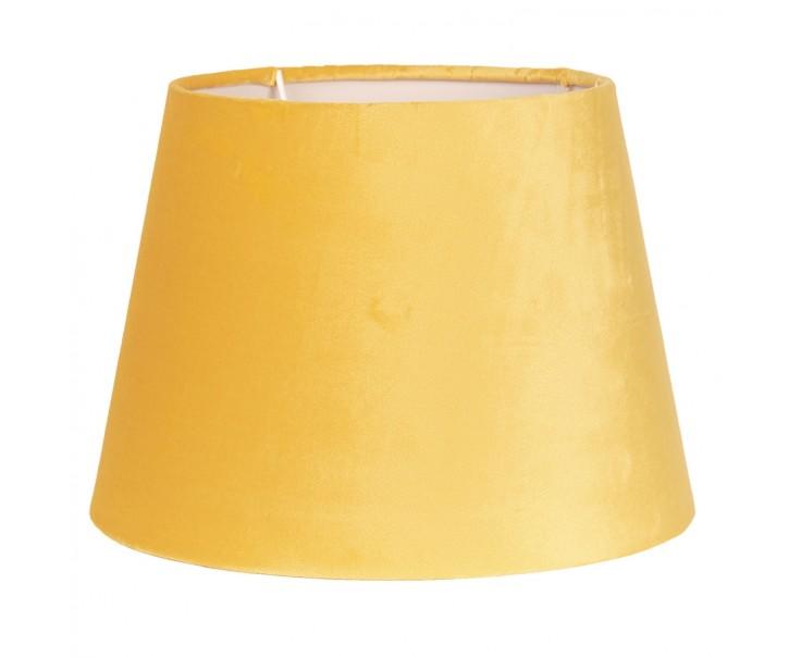 Žluté semišové stínidlo Chic - Ø 31*22 cm