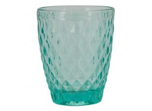 Tyrkysová sklenička Verrerie I - Ø 8*10 cm