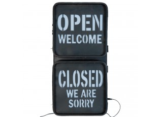 Nástěnná kovová lampa Open Closed - 30*9*58 cm