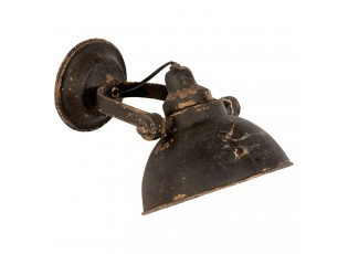 Nástěnná černá retro lampa - 21*30*19 cm E14/25W
