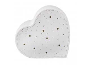 Porcelánová stolní lampa Srdce - 20*9*18 cm / E27/max 1*30W